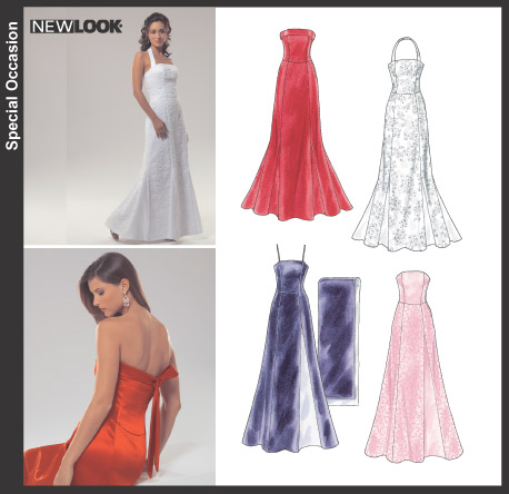 New Look 6454 Misses\' Evening Gowns and Shawl