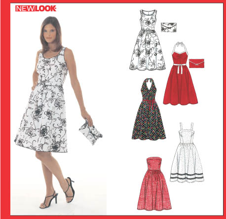 New Look 6457 Misses\' Dresses and Purse