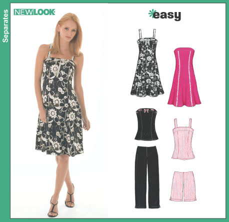 New Look 6468 Misses Dress Or Top And Pants Or Shorts