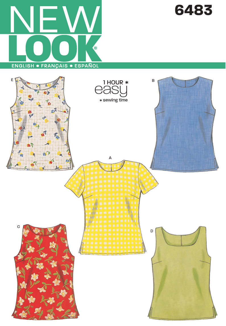 New look 6483 misses tops prevnext jeuxipadfo Image collections