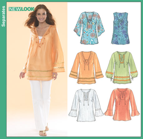 New Look 40 Misses Tunics Delectable New Look Patterns