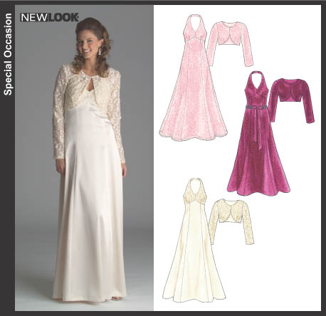 New Look 6507 Misses Lined Evening Dress and Jacket