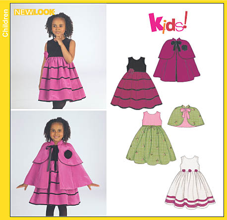 New Look 6527 Child Dress, Cape and Capelet