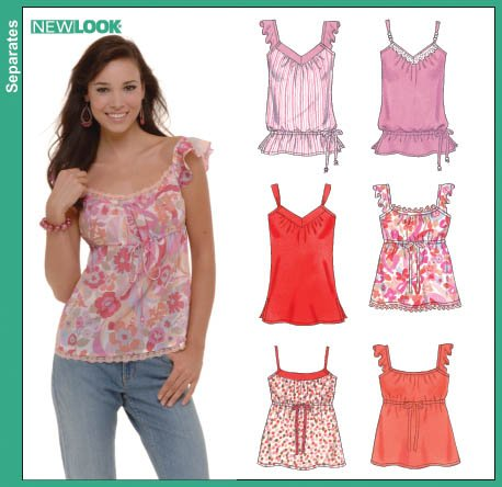 New Look 6562 Misses Camisole Tops