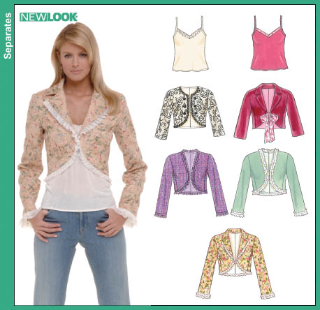 New Look 6564 Misses Lined Jacket and Knit Camisole