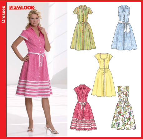 patterns new look dresses new look 6587 misses button front dresses