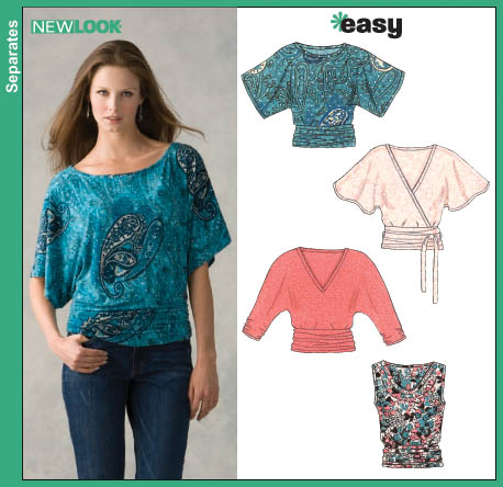 New Look 6648 Misses Knit Tops