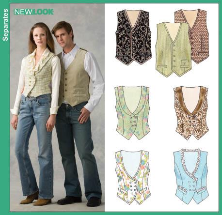 PrevNext - New Look 6659 Misses And Men's Vests