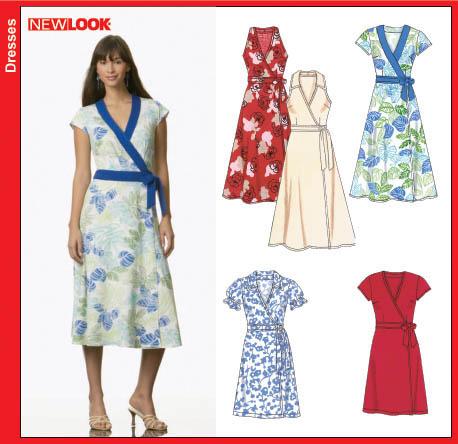 New Look 40 Misses Wrap Dress Stunning Wrap Around Dress Pattern