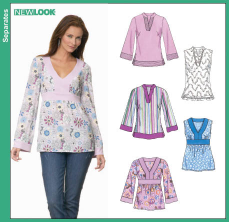 New Look 6677 Misses Tunic Top
