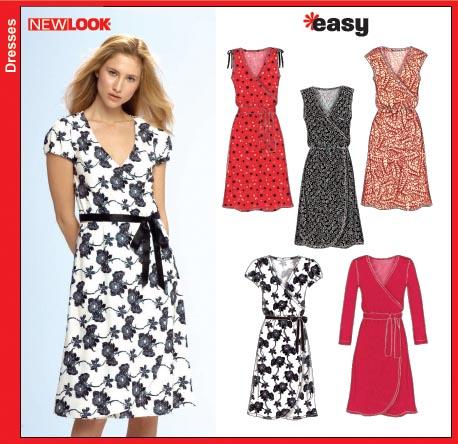 New Look 6697 Misses Knit Dress