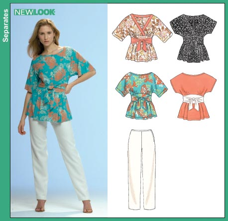New Look 6714 Misses Tops and Pants