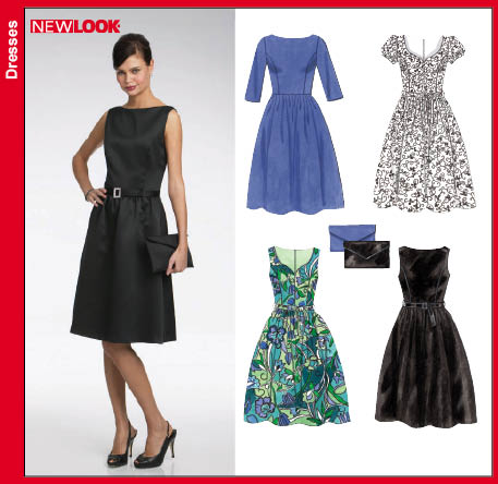 New Look 6723 Misses Dresses