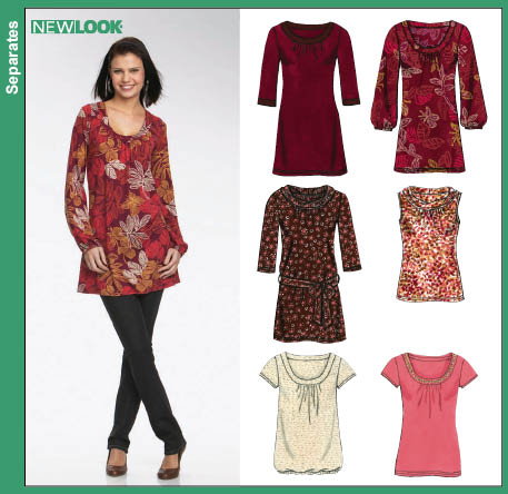 New Look 6731 Misses Knit Top Or Tunic