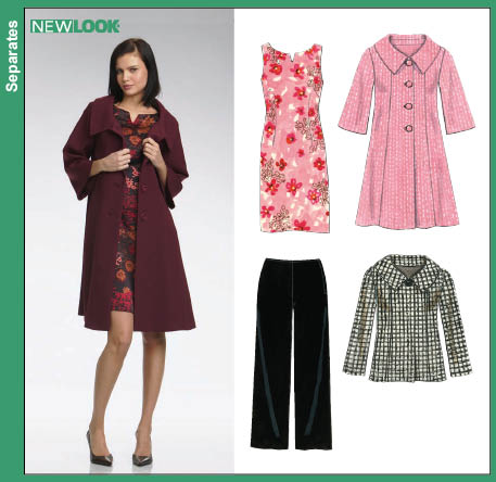 New Look 6736 Misses Coat Jacket Dress and Pants