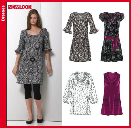 New Look 6752 Misses Dress or Tunic