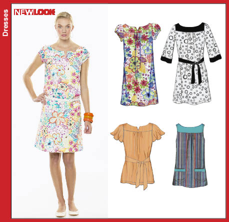 New Look 6775 Misses Mini Dress or Top
