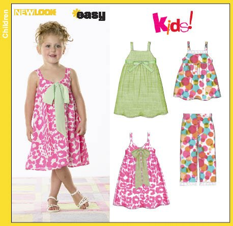 New Look 6798 Child Dress Top And Pants