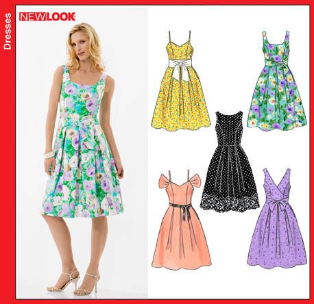 706f4f3a5296 New Look 6805 Misses Dresses