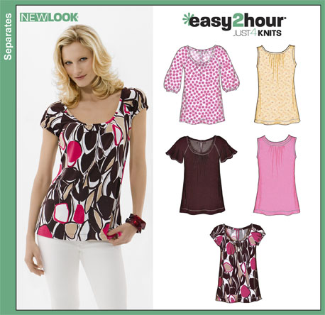 New Look 6807 Misses Easy Two-Hour Knit Tops