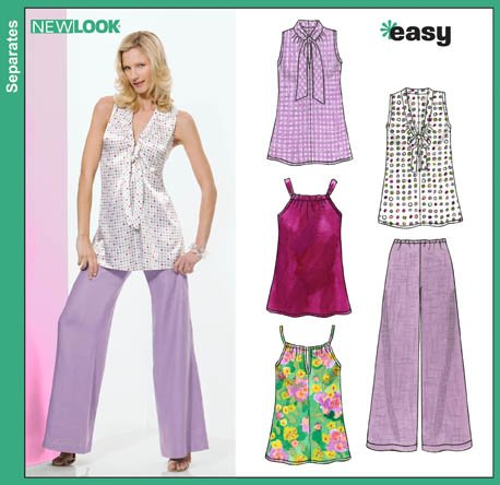 New Look 6814 Misses Easy Tops and Pants
