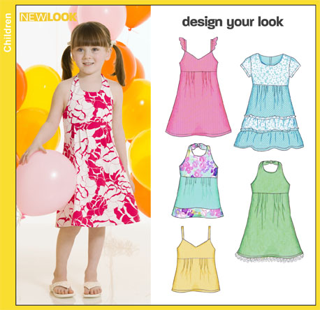 PrevNext. New Look 6821 Child Design Your Look Dress or Top