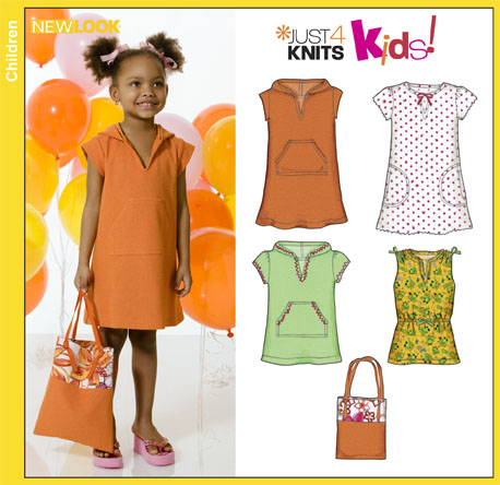 New Look 6822 Child Knit Dresses, Tunic Top and Bag