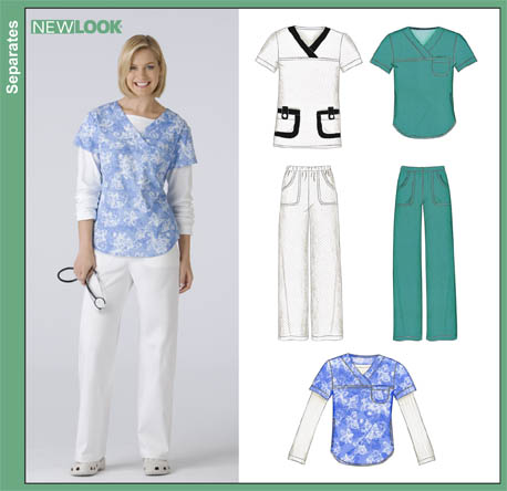 New Look 40 Misses Scrubs Stunning Scrub Top Patterns