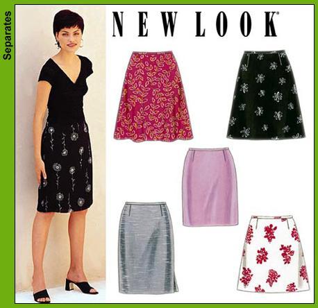8bbca0b7c5 New Look 6843 Misses Skirts