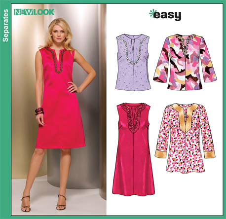 New Look 6849 Misses Dress, Tunic and Tops