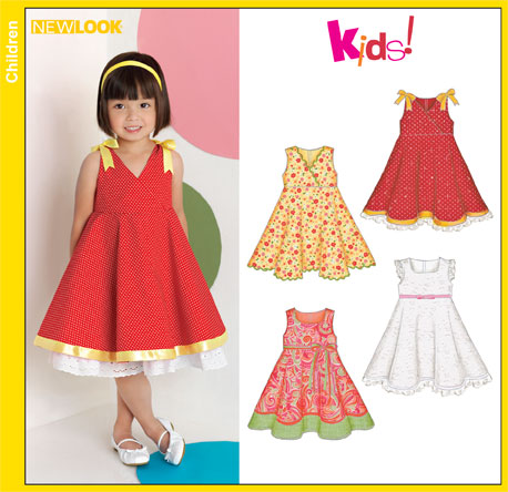 New Look 6881 Toddler Dresses
