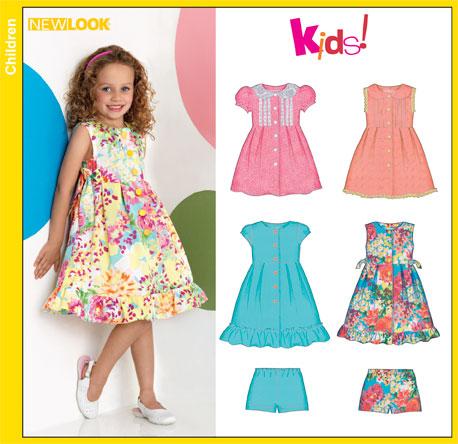 New Look 6884 Child Dresses