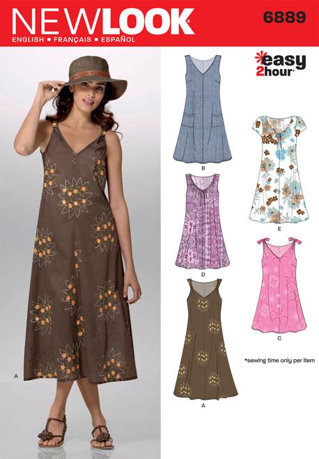 8c8ba0d0cdc3 New Look 6889 Misses Dresses