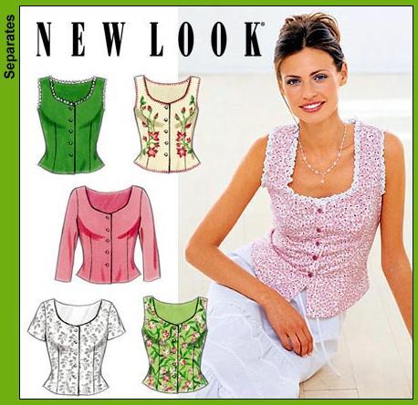 New Look 6945 Misses Tops
