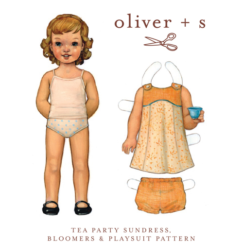 Oliver & S OS001TP Tea Party Sundress, Bloomers, and Playsuit