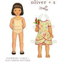 Oliver + S Pinwheel tunic + slip dress Pattern ( Size 6m-4T )