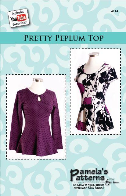 Pamela\'s Patterns 114 Pretty Peplum Top