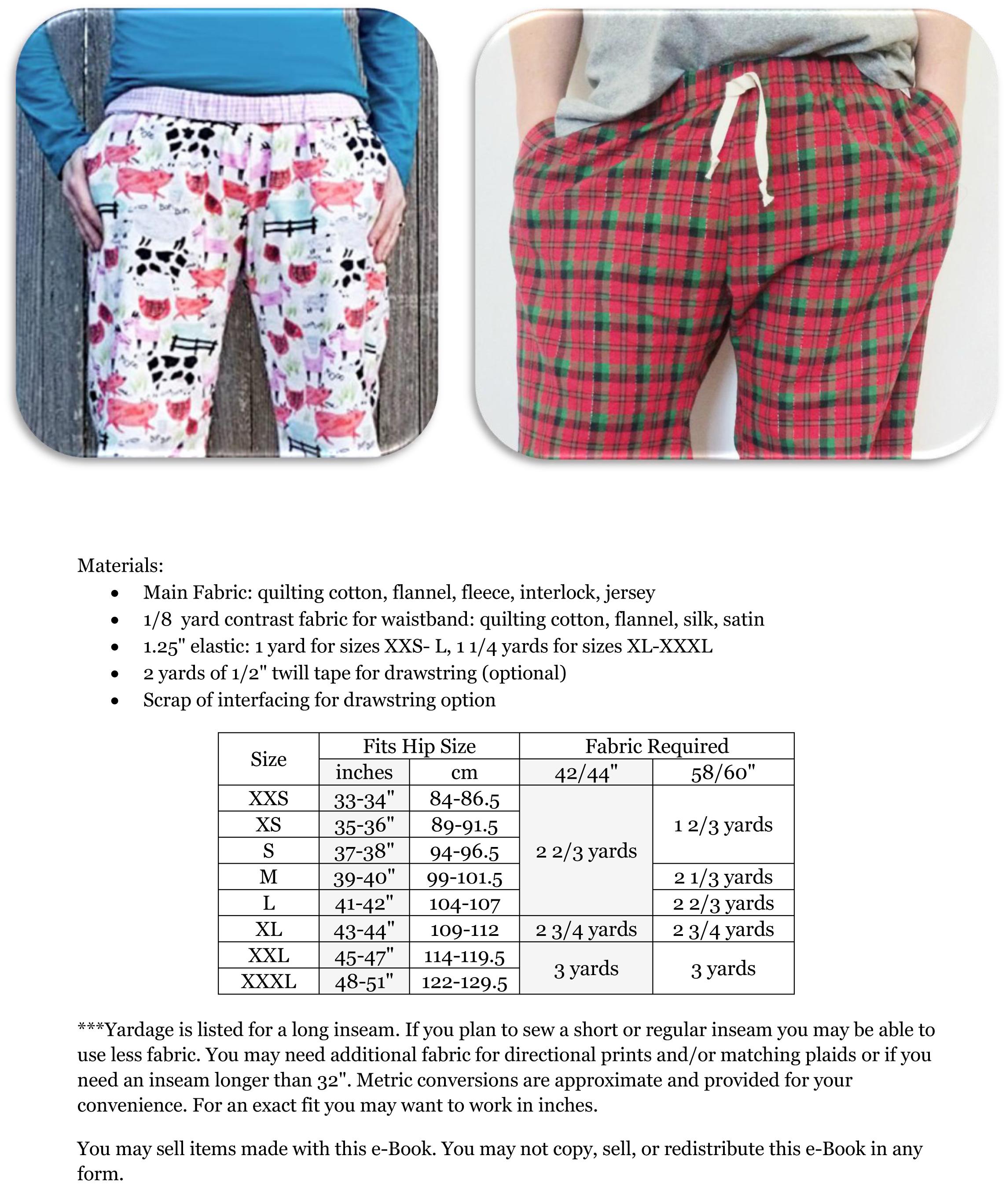 Peek a boo pattern shop hit the hay pajama pants downloadable pattern prevnext nvjuhfo Choice Image