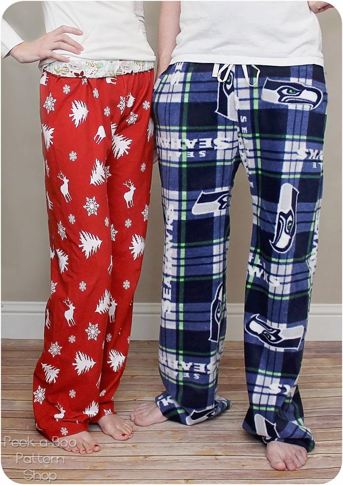 Peek-a-Boo Pattern Shop Hit the Hay Pajama Pants Downloadable Pattern