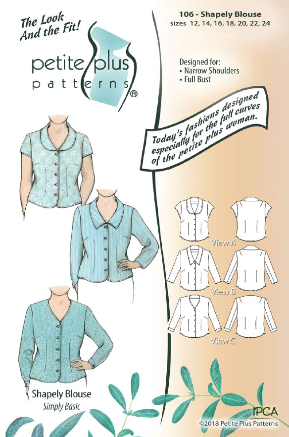 Petite Plus Patterns 106 Shapely Blouse