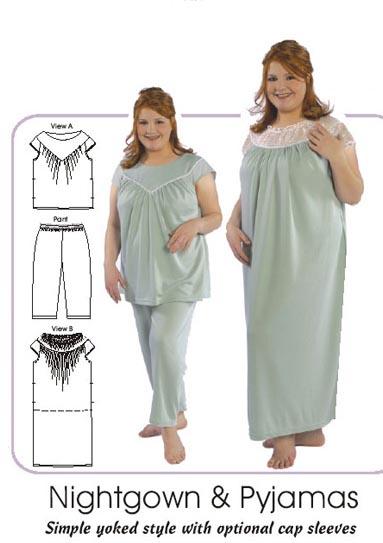 Petite Plus Patterns 401 Nightgown PJs