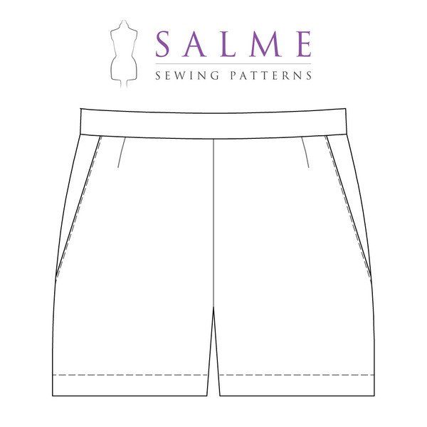 Salme Sewing Patterns 110 Shorts With Side Zipper