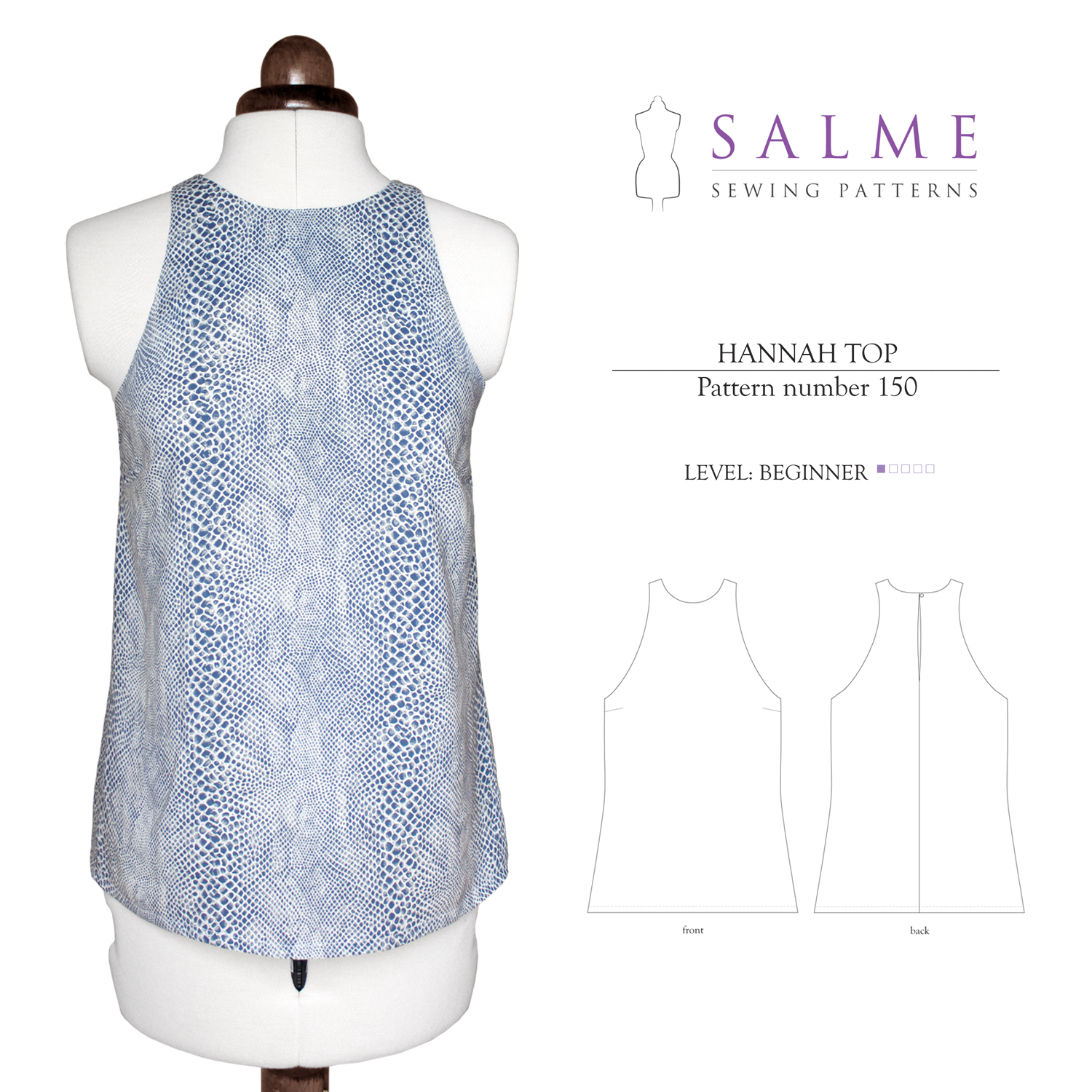 Salme sewing patterns 150 hannah top downloadable pattern prevnext jeuxipadfo Image collections