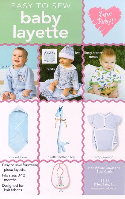 Sew Baby 11 SewBaby Easy to Sew Baby Layette Pattern