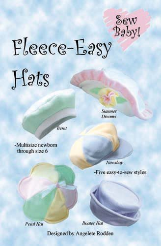 SewBaby Fleece-Easy Hats Pattern