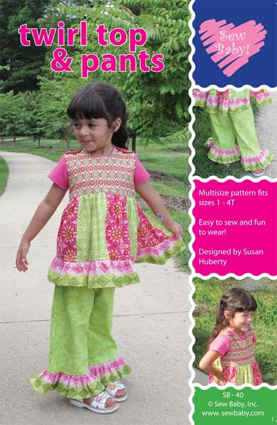 SewBaby Twirl Top and Pants Pattern
