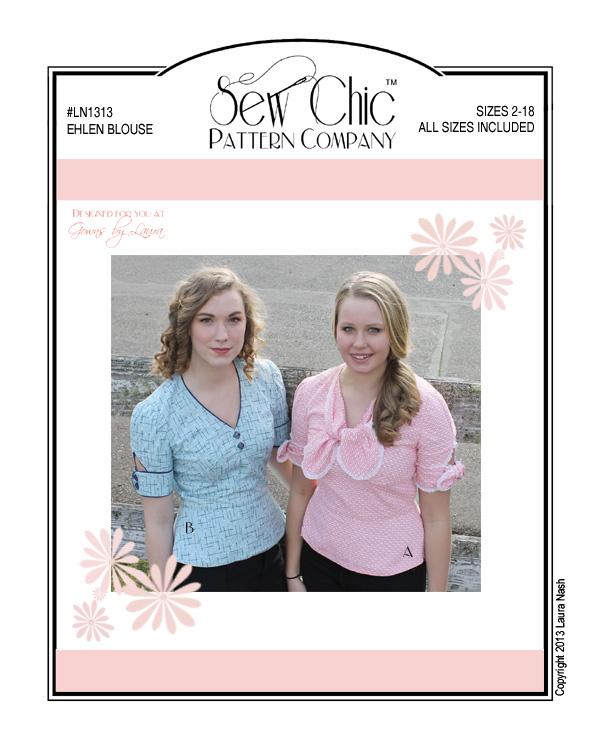 Sew Chic LH1313 Ehlen blouse