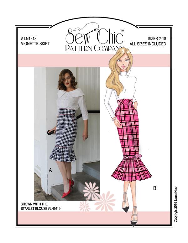 Sew Chic LN1618 Vignette Skirt