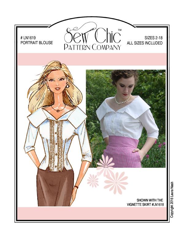 Sew Chic LN1619 Portrait Blouse