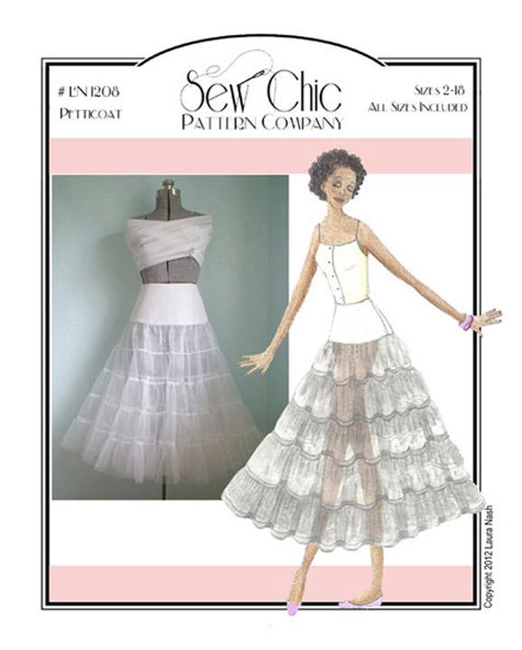 Sew Chic ln1208 Pretty Petticoat